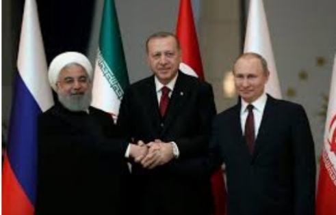 مضمون القمة الثلاثية التي تم عقدها في تركيا اليوم.