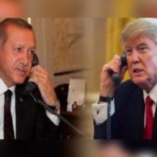 أردوغان وترامب : يطالبان روسيا والنظام وإيران بوقف الهجمات على ادلب.