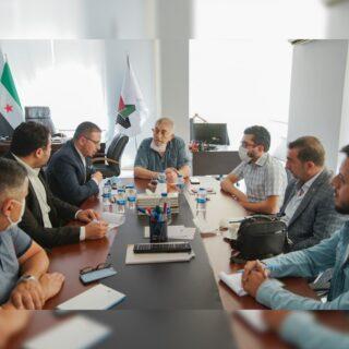 مكتب النقابات والاتحادات يجتمع مع اتحاد ثوار حلب